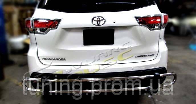 Защита заднего бампера Toyota Highlander 2014-on