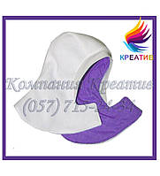 Манишки флисовые с капюшоном на липучке с нанесением логотипа (под заказ от 30-50 ед.)