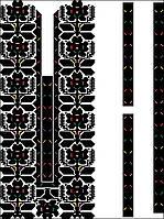 Заготівля чоловічої сорочки для вишивки нитками/бісером БС-95ч, фото 1