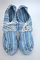 """Туфли женские с вышивкой """"кот"""" IK-320 (голубой), фото 1"""