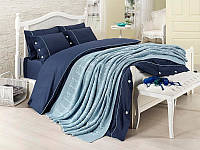 Набор постельное белье + вязаное покрывало  First Choice Nirvana Style Mavi