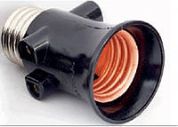 "Патрон Lemanso E27 для ламп+штепшепс,гнезда""жулик""\LM001"