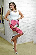 Женское платье белое с цветами  до колена rinascimento, фото 3