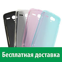 Чехол-бампер TPU для Huawei Acsend G500 (полупрозрачный) (Хуавей г 500, аскенд джи 500, асценд дж 500)