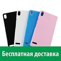 Чехол-бампер TPU для Huawei Acsend P6 (глянцевый) (Хуавей п6, р6, аскенд п 6, асценд р 6)