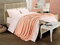 Набор постельное белье + вязаное покрывало  First Choice Nirvana Style Somon