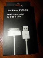 КАБЕЛЬ для APPLE iPhone 4/3GS/3G USB