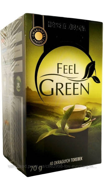Зеленый чай класический ( 40 пакетиков ) Feel Green .