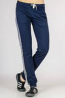 Спортивные штаны женские с лампасами (синие)
