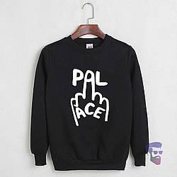 Спортивная кофта Palace, Паласе, свитшот, трикотаж, мужской, черного цвета, копия