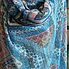 Шарф абстракция голубого цвета , фото 3