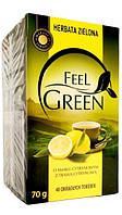 Зеленый чай с лимоном ( 40 пакетиков ) Feel Green O smaku cytrynowym.