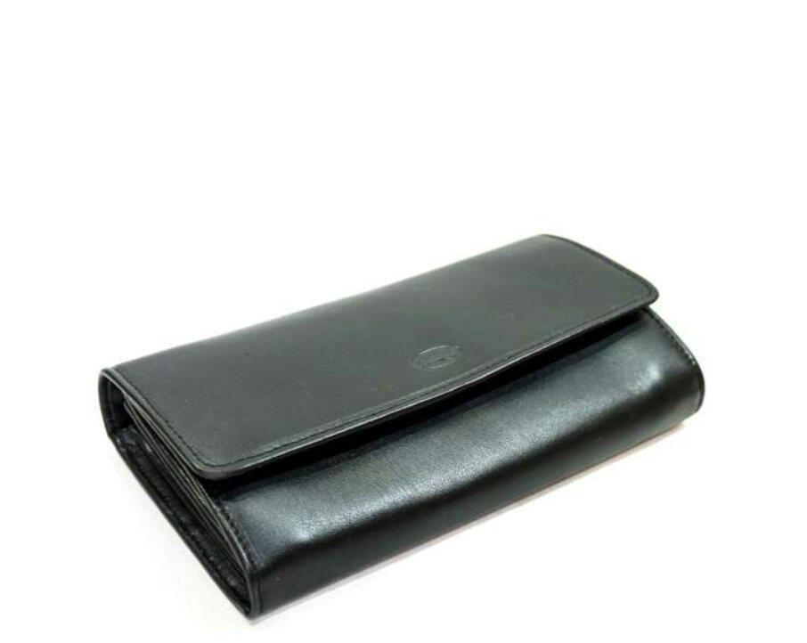 Кошелек женский кожаный Катана чёрный 553106.