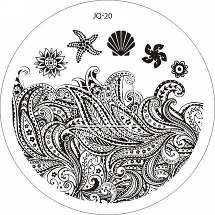 Пластина (диск) для стемпинга,JQ-20, фото 2