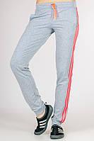 Спортивні штани жіночі з лампасами (світло-сірі), фото 1