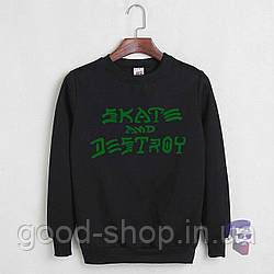Свитшот Skate and Destroy черный