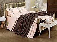 Набор постельное белье + вязаное покрывало  First Choice Nirvana Style Kahve