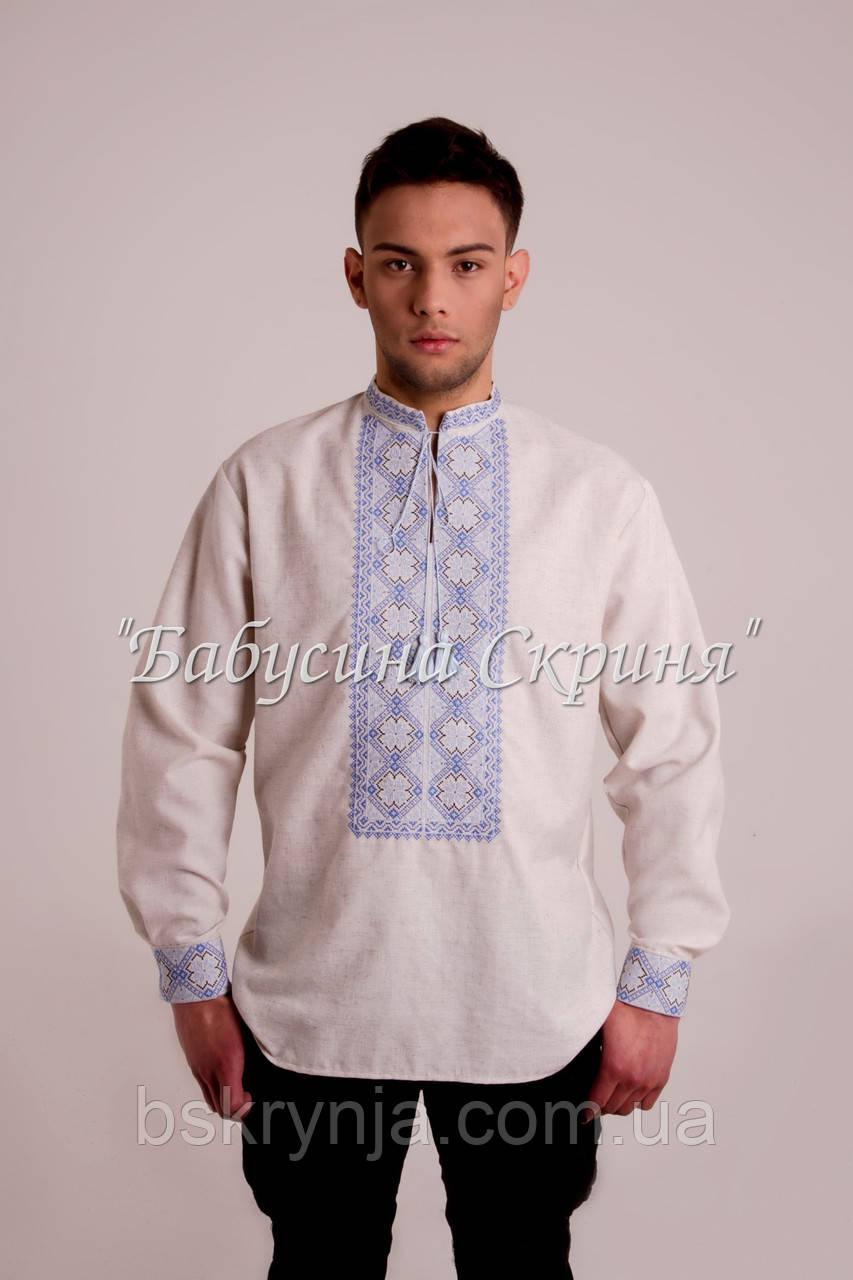 Заготовка чоловічої сорочки для вишивки нитками бісером БС-90ч ... d1a975e2f7b71