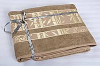 Простынь махровая Cestepe Bamboo - Altin Agac 160*200 кофе