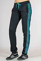 Спортивные штаны женские с лампасами (черные), фото 1