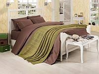 Набор постельное белье + вязаное покрывало  First Choice Nirvana Style Yesil