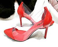 Стильные летние женские комфортные туфли TroisRois из натуральной турецкой кожи и силикона