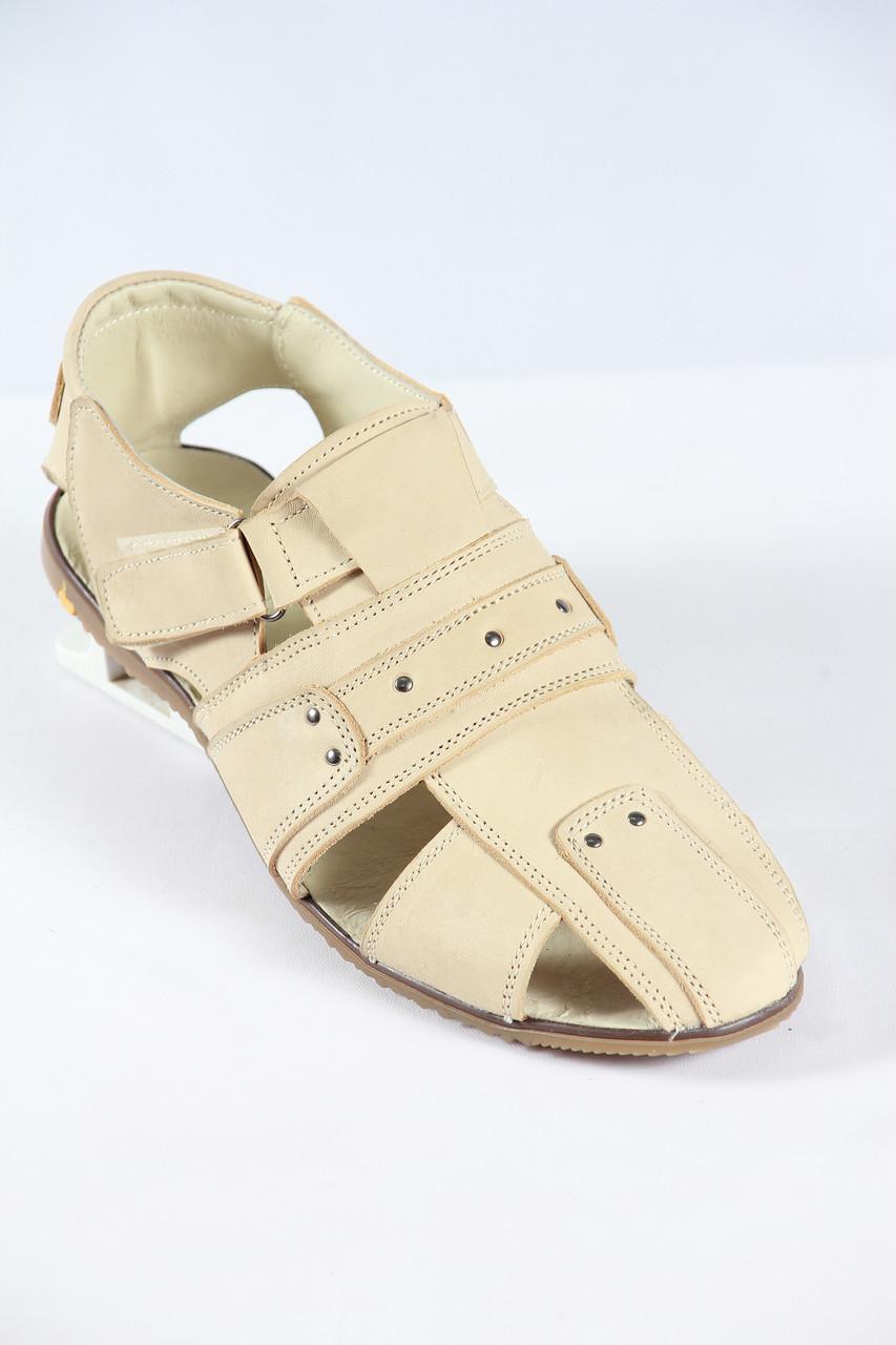Мужские летние кожаные сандалии