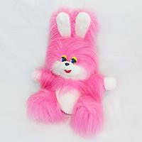 Мягкая игрушка Заяц Пушок розовый