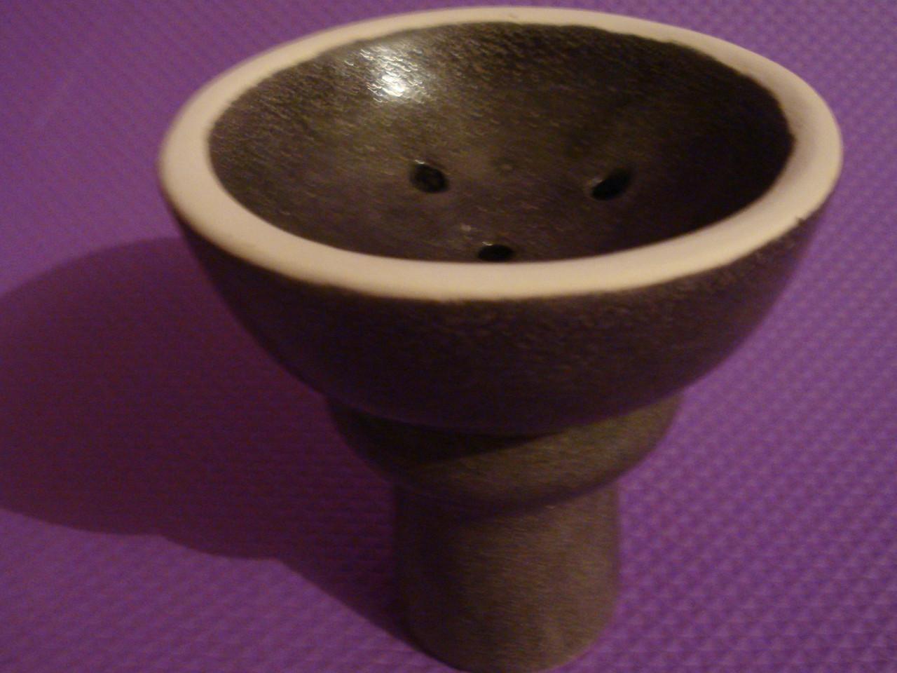Чаша классическая средняя с белой глины в глазуре