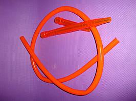 Шланг(трубка)силиконовая, акриловый мундштук - Оранжевый