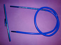 Шланг(трубка)силиконовая AMY DeLuxe Aluminium Long длинный Синий, фото 1