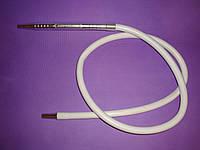 Шланг силиконовый AMY DeLuxe VIP, толстый мундштук Белый, фото 1