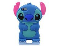 Чехол силиконовый голубой стич 3D на Iphone 7 PLUS