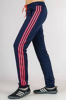 Спортивные брюки женские с лампасами (синие), фото 1