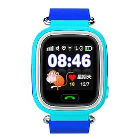 Q90 Детские GPS часы Smart baby watch Голубой