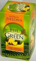 Зеленый чай с ананасом ( 40 пакетиков ) Feel Green O smaku ananasowym.