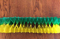 Гирлянда - растяжка 3,5 метра, зелено-желтая