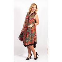 Платье из хлопка с геометрическим рисунком