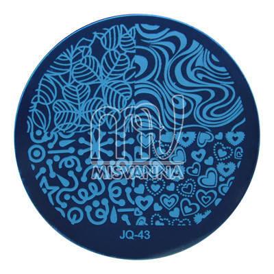 Пластина (диск) для стемпинга,JQ-43, фото 2