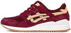 Мужские кроссовки Asics Gel Lyte III Veg Tan Burgundy White Gum Brown H6V3N-2671, Асикс Гель Лайт 3