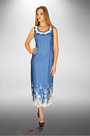 Платье ДТ - 85 - синий/ белый купон