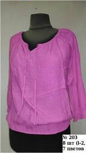 Женская блузка сиреневая батал