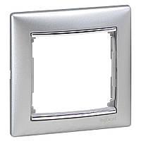 Рамка 1-ая горизонтальная Legrand Valena 770351 алюминий / серебряный штрих