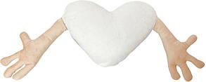 """Подушка-обнимашка в форме """"Сердце"""", персиковая"""