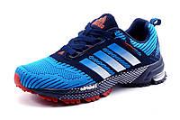 Кроссовки Adidas Spring Blade унисекс текстиль, темно-синие с голубым, р. 38