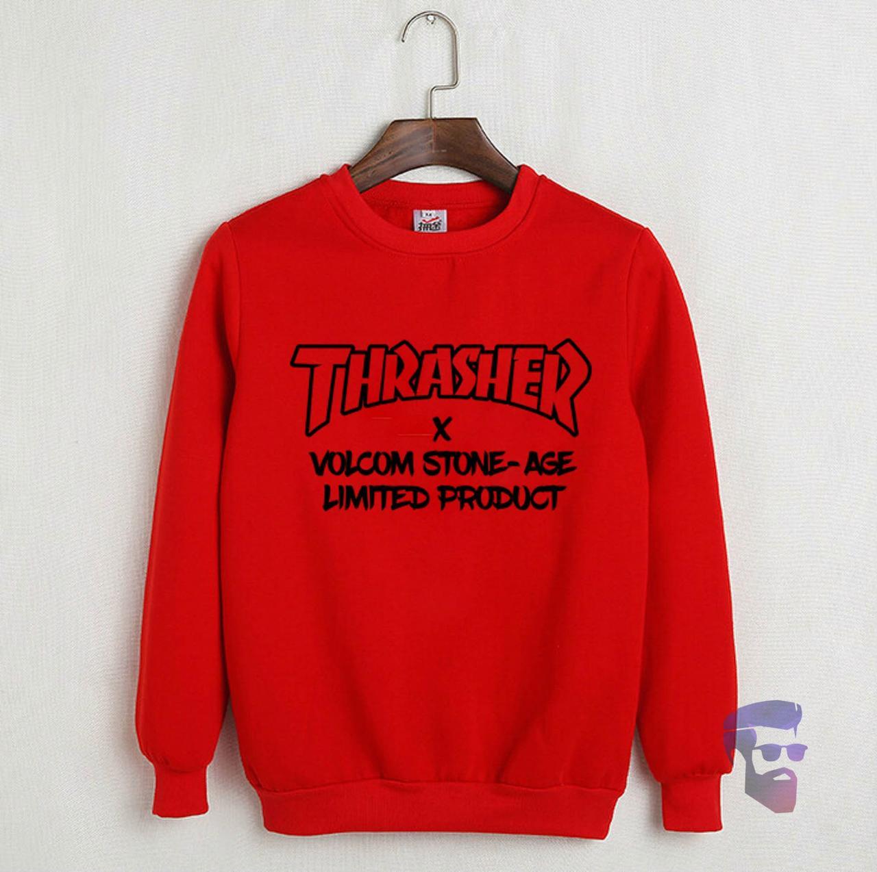 Мужская спортивная кофта Трешер (Thrasher), мужской трикотажный свитшот, (на флисе и без) копия