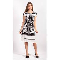 Платье из хлопка с черно-белым рисунком