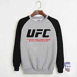 Свитшот UFC черный с серым