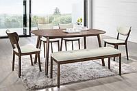 Комплект Каори: стол + 4 стула состаренное дерево