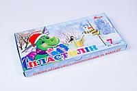 Пластилин 7 цветов 300 gr, пластилин детский, карт.упаковка
